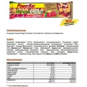 PowerBar Natural Energy Cereal Bar Box Raspberry Crisp 24 x 40g